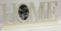 Large Freestanding White Photo Frame Ornament Plaque ~ HOME